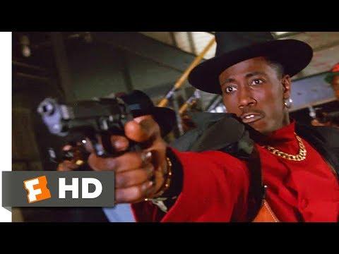 New Jack City (1991) - Cops vs. CMB Scene (7/10) | Movieclips