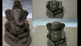 Eco friendly ganesha making //how to make clay ganapathi // vinayaka for vinayaka chavithi