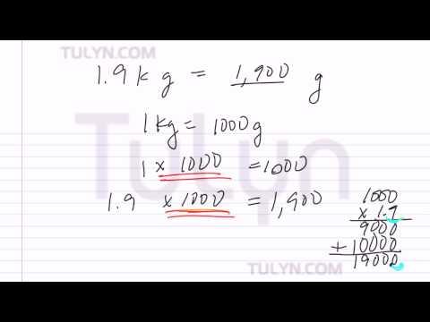 Conversion of Metric Units: Converting Kilograms to Grams