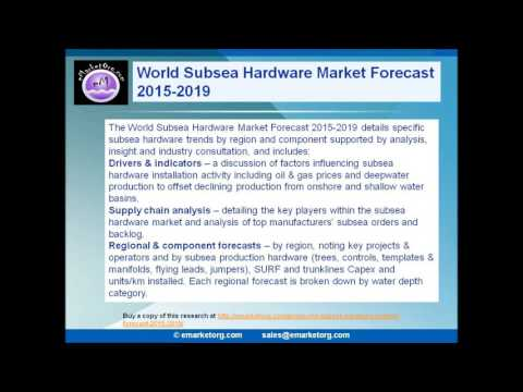 Subsea Hardware Market Capex Projected to hit $145 Billion by 2019