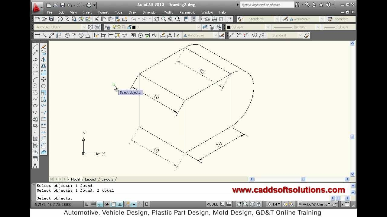 AutoCAD Isometric Dimensions Tutorial