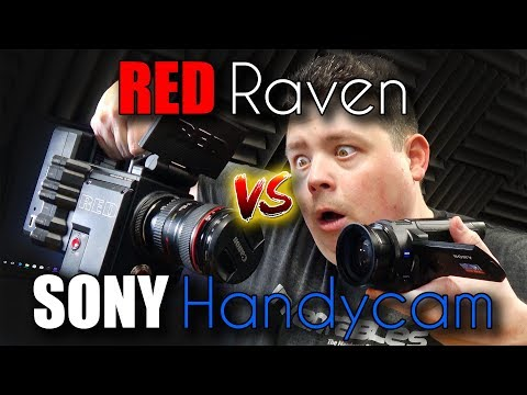 RED Raven 5k Cinema Camera vs. Sony Handycam 4k Cheap Camera