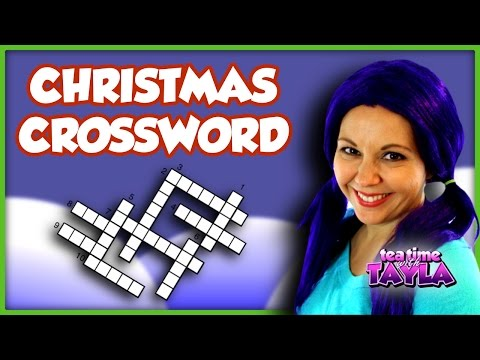 Christmas Crossword Puzzle | Christmas for Kids | Learn to Spell on Tea Time with Tayla