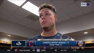 Giovanny Urshela explains tough night defensively in Game 4 | Indians vs. Yankees ALDS