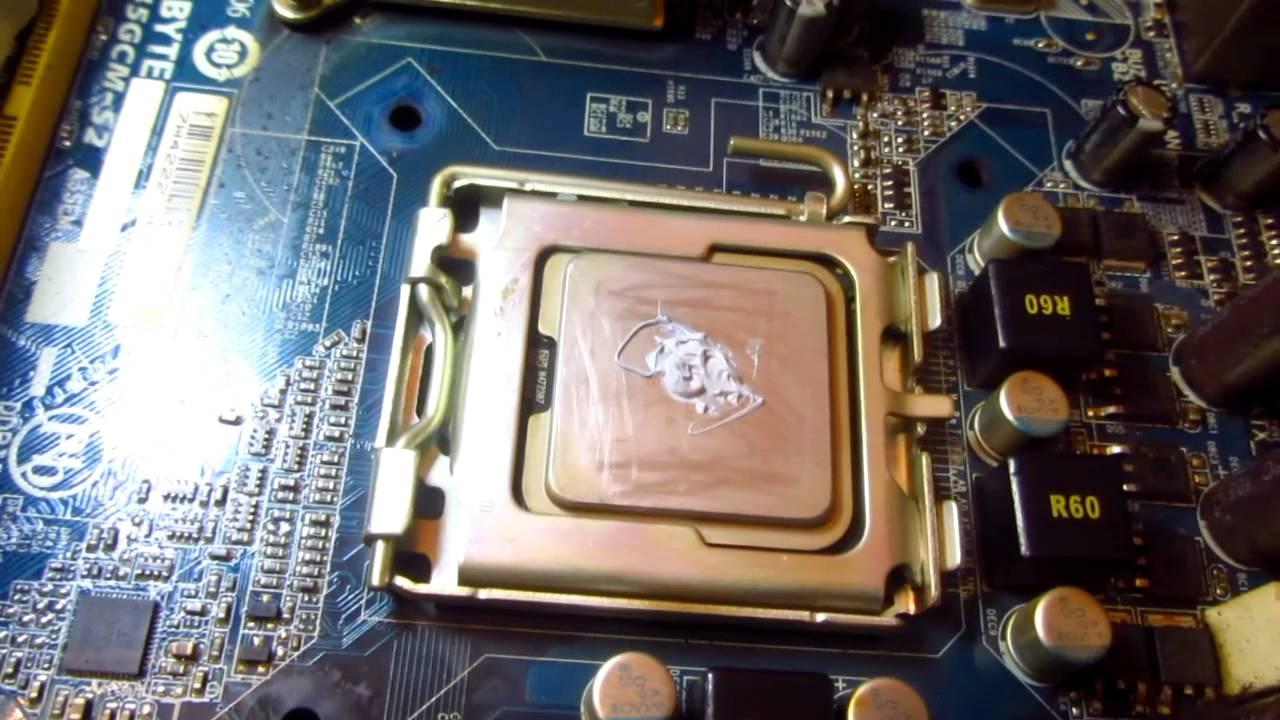 CPU Thermal Paste Replacement Intel dirty CPU cooler