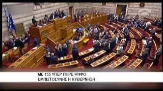 Με 155 υπέρ πήρε ψήφο εμπιστοσύνης η κυβέρνηση