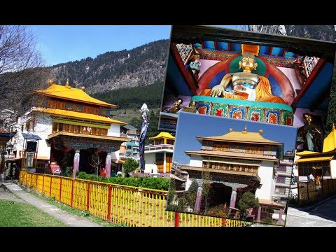 Himalaya Nyingmapa Buddhist Temple at Manali in 2017, Himachal Pradesh, India. Manali sightseeing