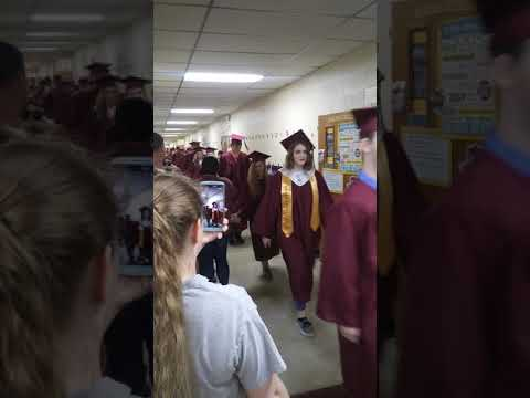 Porum High School Class Of 2019 Parade Down The Elementary Hall Part 2