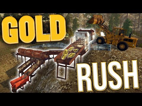 Gold Rush - Tier 3 Mega Mining! - The Ultimate Gold Output - Gold Rush: The Game Gameplay