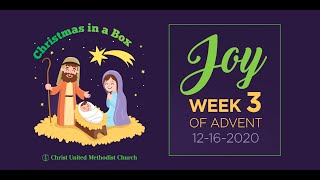 Christ Kids - Week 3 / Christmas In A Box.