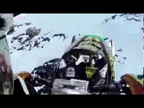 Нереально страшный прыжок со скалы на снегоходе, incredible snow mobile