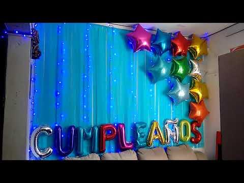 Decoración de feliz cumpleaños con cortina de crepé   Luoo Navarro