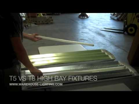 The Difference Between T5 and T8 High Bay Lighting Fixtures & The Difference Between T5 and T8 High Bay Lighting Fixtures - YouTube
