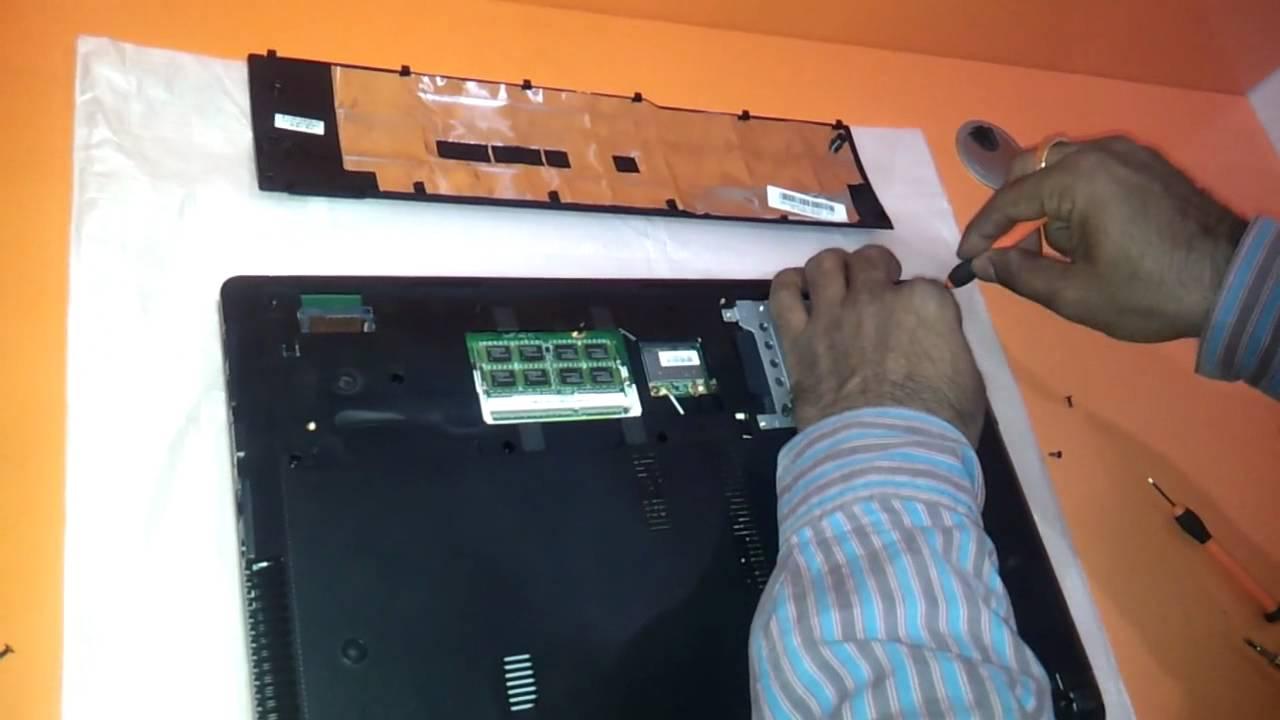 How To Change Upgrade Ram Memory Harddisk Of Asus K53 X53