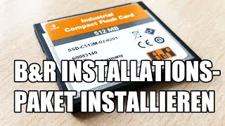 B&R Runtime Utility Center - Installationspaket installieren