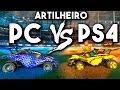 Rocket League ARTILHEIRO: PC VS PS4?!! QUE PARTIDA! c/ Caio, Geek e Vicstor