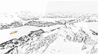 Auto Draw 2: Alps In Fog, Switzerland
