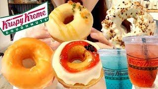 クリスピークリームドーナツの新作ドーナツ食べる!!!Krispy Kreme Doughnuts【スイーツちゃんねるあんみつ】