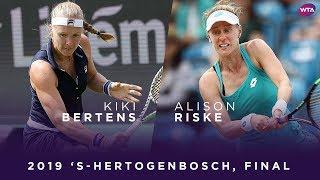 Libéma Open finale: Samenvatting Kiki Bertens - Alison Riske