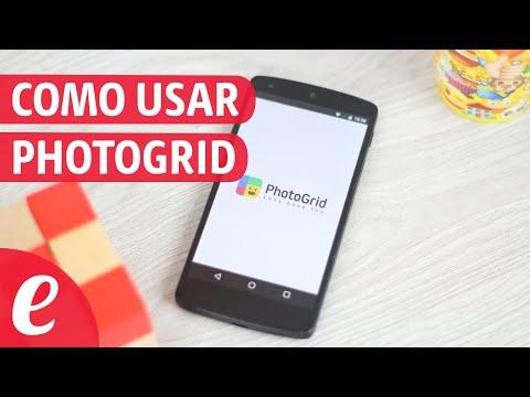 Como usar PhotoGrid (español)