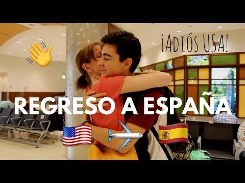 Viaje de vuelta a España y reencuentro con mis amigos #AdiósUSA | Martín Tena