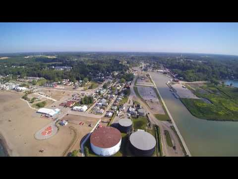 Aerial view Port Stanley Ontario July 2 2017