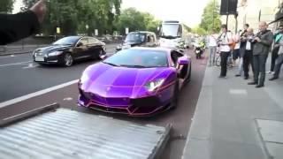 Sceicco senza patente a Londra, ecco la polizia che gli sequestra la Lamborhini Aventador modificata