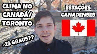 CLIMA NO CANADÁ/TORONTO: INVERNO/PRIMAVERA/VERÃO/OUTONO