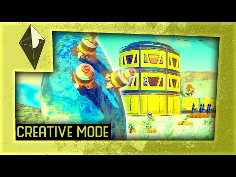"""AUTOMATED MINING AND FARMING - No Man's Sky  - Creative Mode (""""The Foundation Update"""" Gameplay)"""