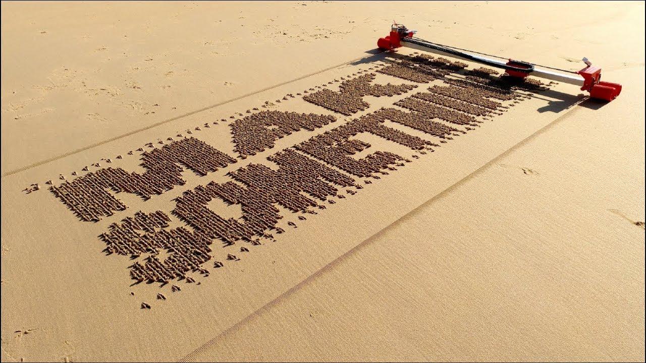 sand drawing robot youtube