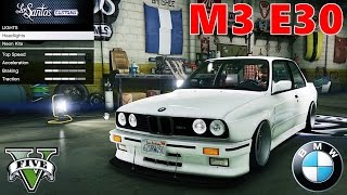 GTA V tuning the 1991 BMW M3 E30 car mod !!