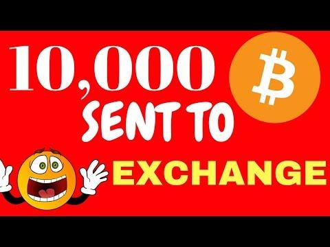 10,000 BTC Sent To Exchange - Bitcoin Analysis