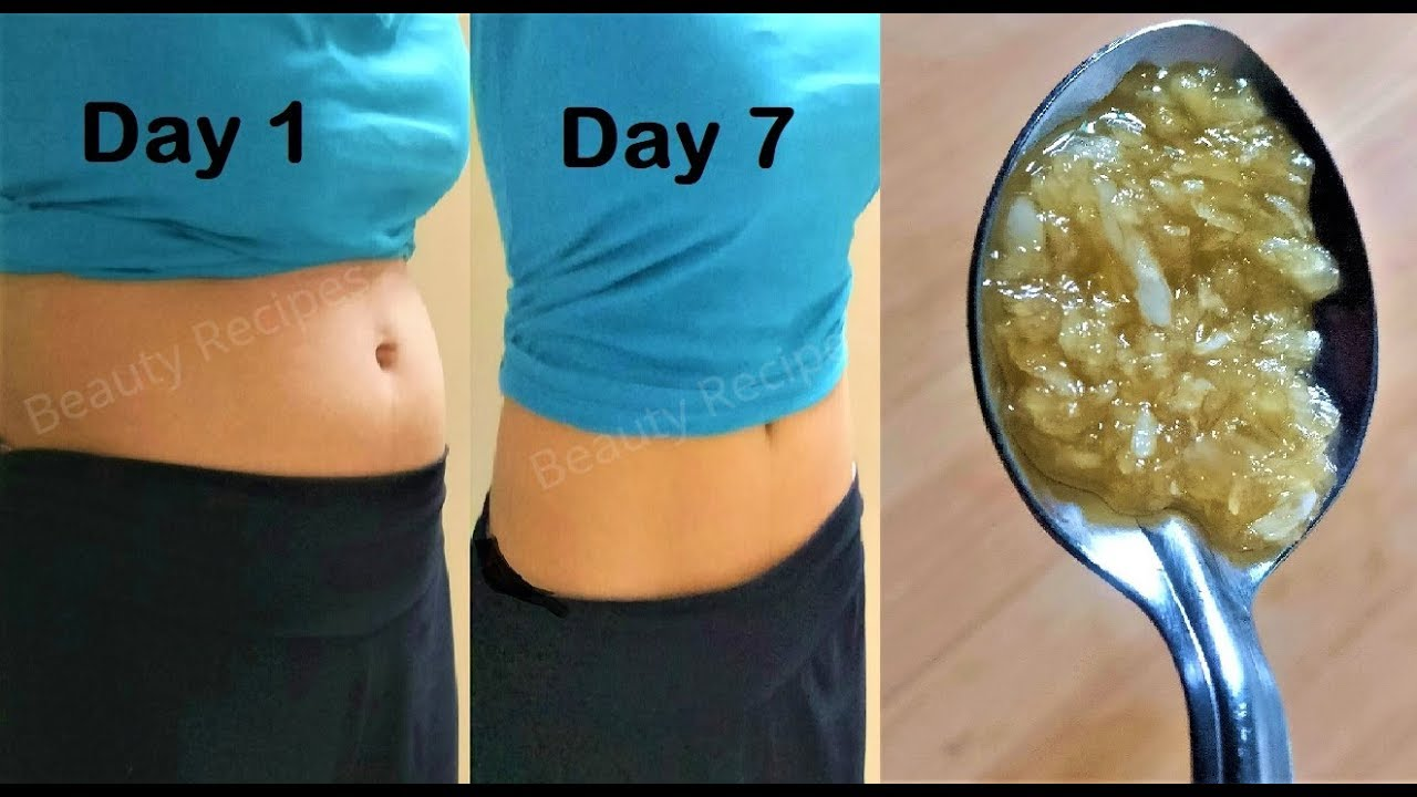 Lose Belly Fat In 1 Week Get Flat Stomach Just Eat 1 Spoon Garlic Honey On Empty Stomach For 7 Days