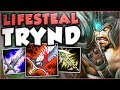 HOW INSANE IS THIS NEW TRYND LIFESTEAL BUILD?? LIFESTEAL TRYNDAMERE TOP GAMEPLAY! League of Legends