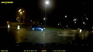 2018-11-04 - blue Vauxhall HD06JZH fails to give way at roundabout