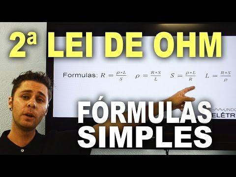 Segunda lei de Ohm - Conceito e tabela em vídeo aula!