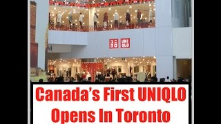 Canada's First UNIQLO Opens In Toronto - Crazy Crowds!
