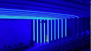 Наладка сценариев освещения в процессе реализации интерьера зала Президиума. Университет Пирогова.