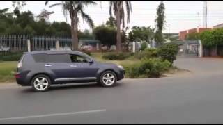 Lion filmed stalking along road minutes before attacking elderly man as motorists beep horns as warn