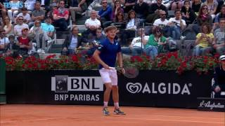 Goffin Back-To-Back-Hot Shots Against Murray Rome 2016