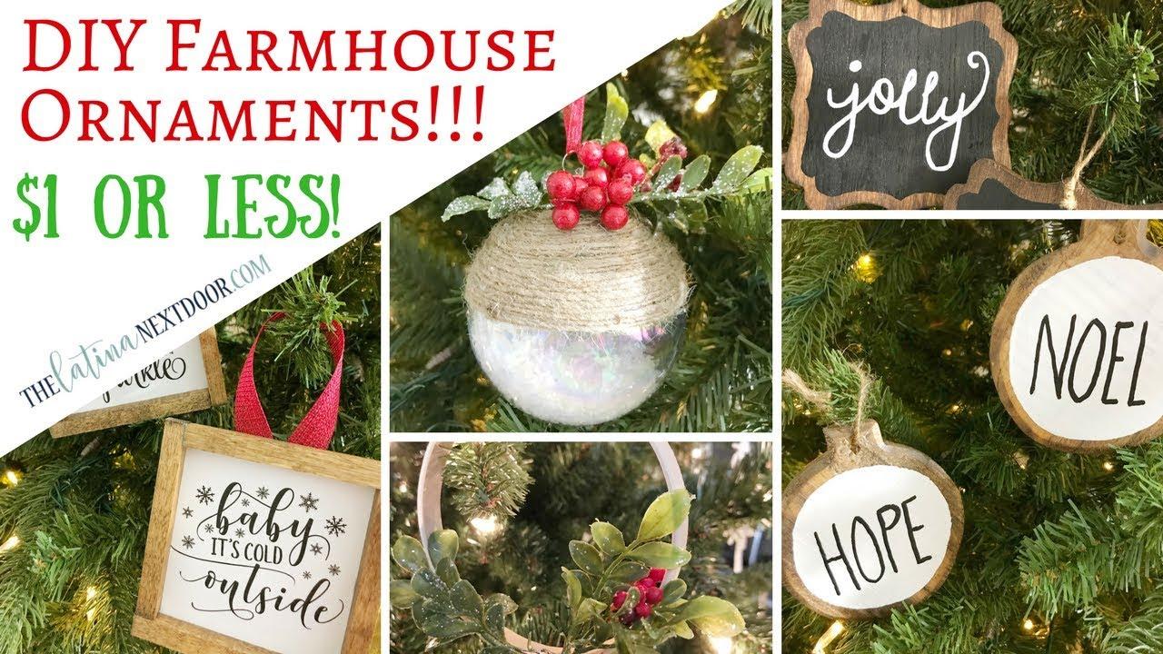 Diy Farmhouse Ornaments Youtube