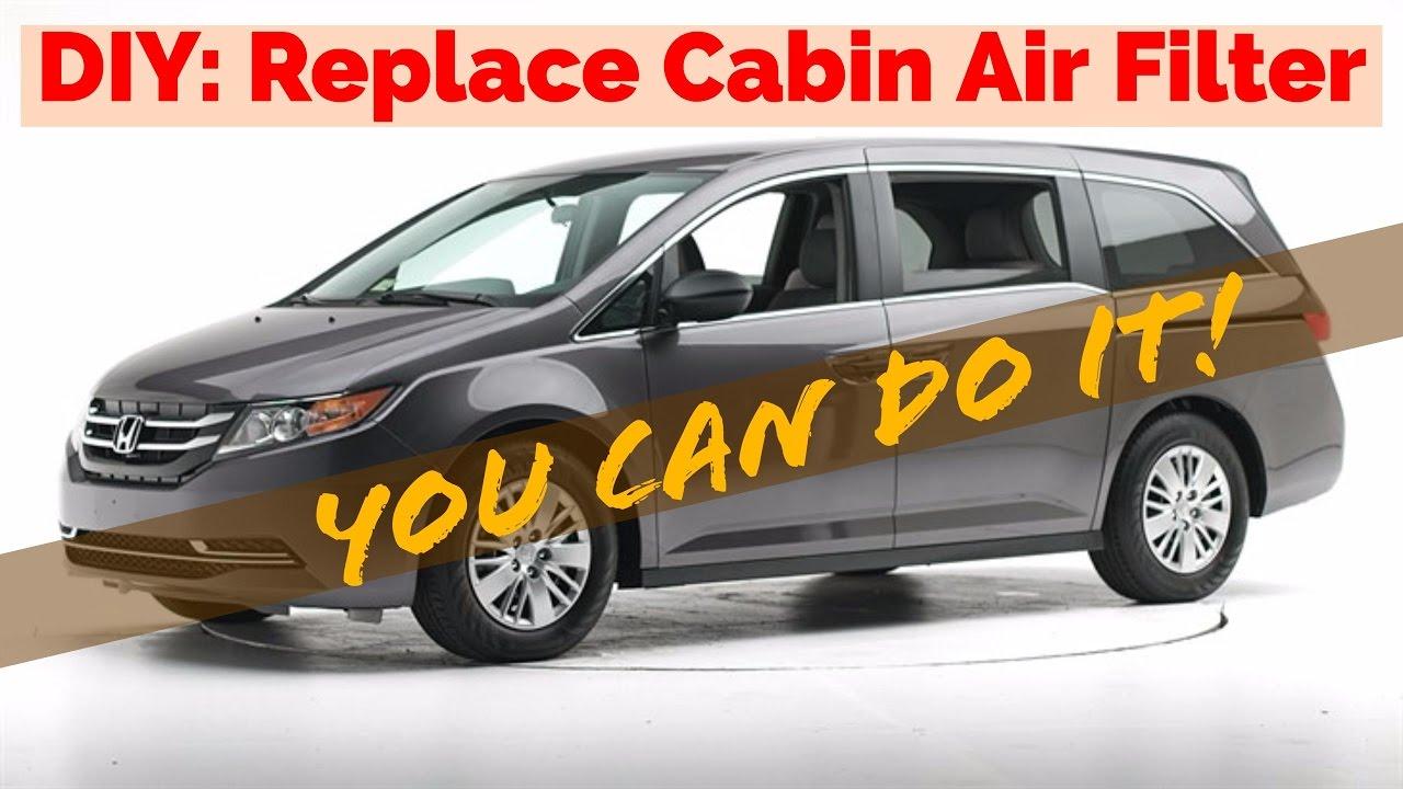 2014 Honda Odyssey Air Or Pollen Cabin Filter Replacement Diy 5 Fuel Minute Task