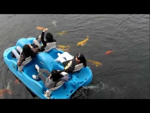 boating at inspiration lake...disney