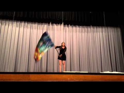 Solo Color Guard Routine to Fix You by Cold Play