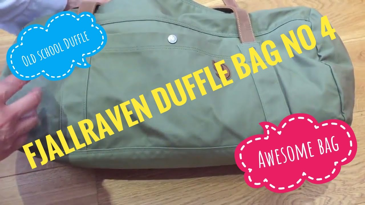 5fb351b1b6a Review of Fjallraven No4 Duffel Bag Large - YouTube