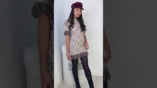 Твидовое платье с бахрамой 2637 в интернет-магазине одежды Emberens.com