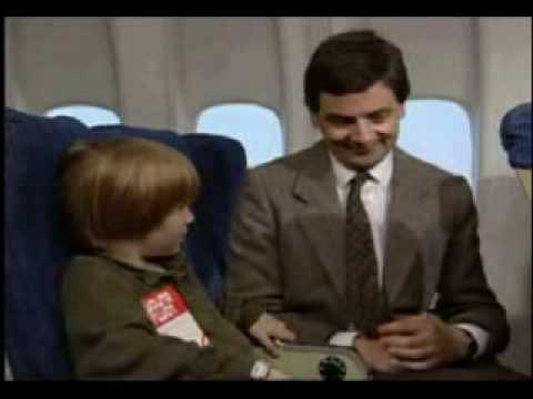 Mr Bean On Plane , Rides Again