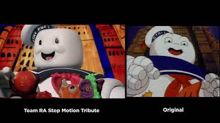 The Real Ghostbusters Intro vs Stop Motion Tribute
