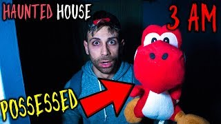 POSSESSED YOSHI DOLL ONE MAN HIDE AND SEEK 3AM CHALLENGE HAUNTED HOUSE W/ MOE SARGI | ALI H *SCARY*
