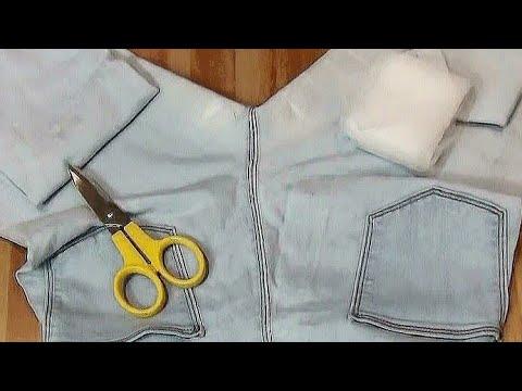 Рваные джинсы - заплатка без шитья